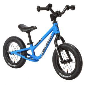Kidvelo Rookie 12 Balance Bike Blue Front Angle Hero