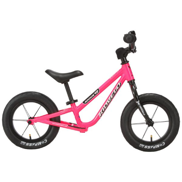 Kidvelo Rookie 12 Balance Bike Pink Side View