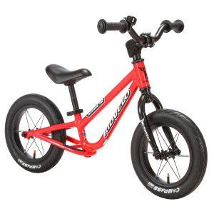 Kidvelo Rookie 12 Balance Bike Red Front Angle Hero